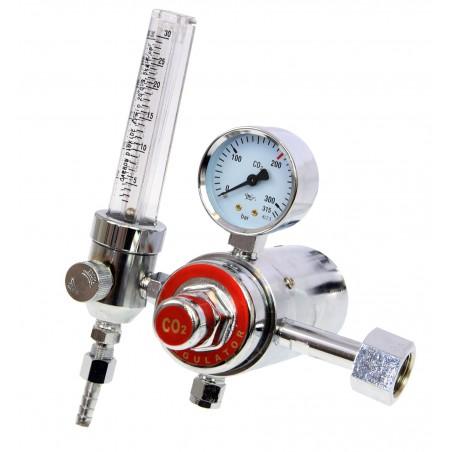 Reduktor butlowy AR/CO2 z rotametrem i podgrzewaczem MAGNUM seria 07